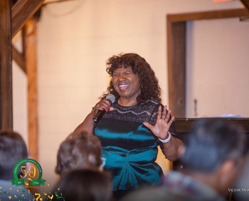 Event singer singing