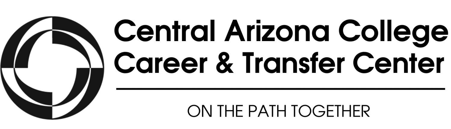 Central Arizona College Career and Transfer Center Logo - On the Path Together
