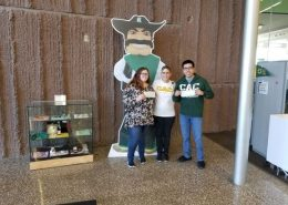Kaitlyn Hansgaard and Tim Jaramillo with SMC Campus Executive Officer, Sonya Selby