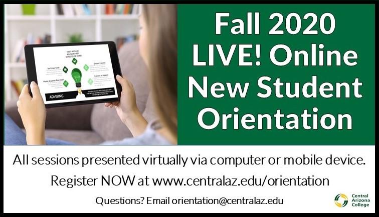 Fall 2020 Virtual Orientation image