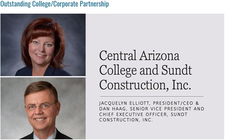 Sundt Construction and CAC Award image photo