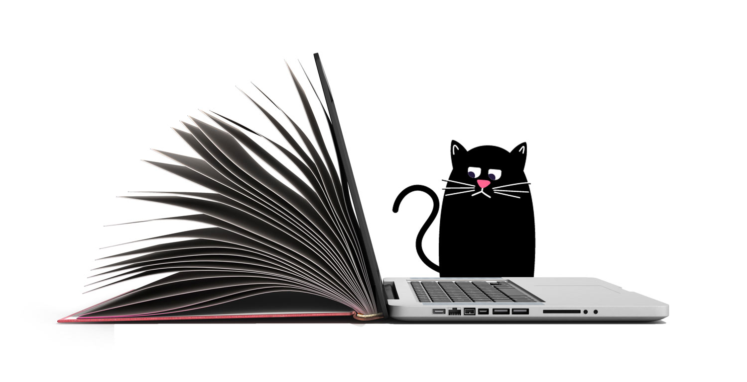 Library Image with ICAT Scavenger Hunt cat