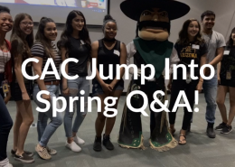 students with mascot - jump into spring q and a