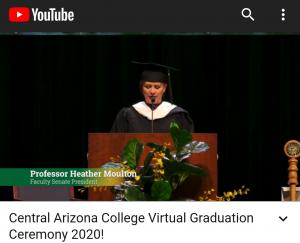Professor Heather Moulton Dec 2020 Virtual Graduation