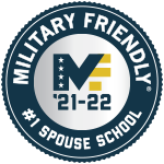 Military Friendly Number One Spouse School 2021-2022 Logo