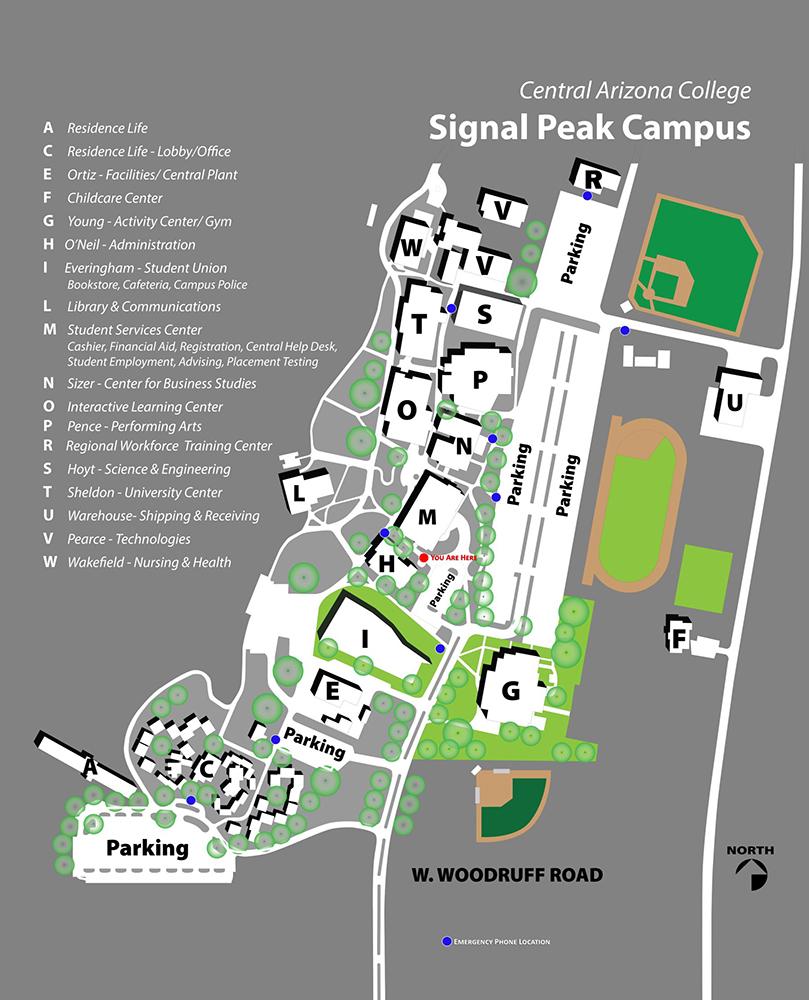SPC campus map