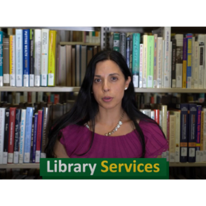 Image of Adriana Saavedra, Director of Library Services