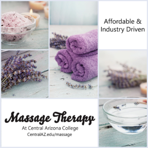 Images of various spa items