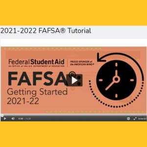 Image of clock with FAFSA Video screenshot